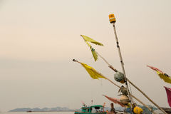Una barca sul fango Immagine Stock