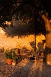 Una barra al aire libre perfecta por la tarde Fotos de archivo