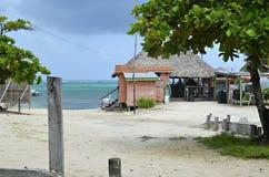 Una barra di riva dell'oceano in San Pedro, Belize Fotografia Stock