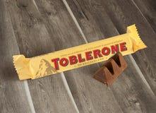 Una barra di Toblerone Fotografia Stock