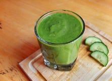 Bebida verde del Smoothie Imagen de archivo