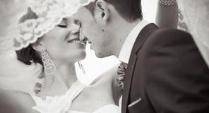 Una bei sposa e sposo Fotografia Stock Libera da Diritti