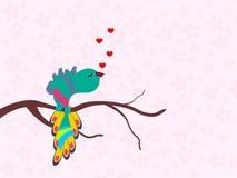 Una bella canzone di canto dell'uccello. Fotografie Stock Libere da Diritti
