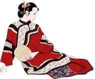 Una bella donna royalty illustrazione gratis