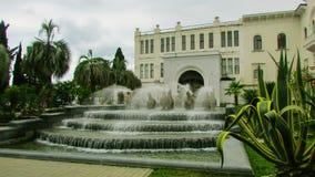 Una bella fontana nel centro della città del sud fotografie stock libere da diritti