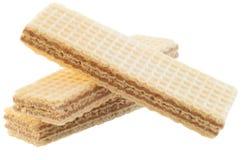 Una bella macro di un wafer di tre nocciole Immagini Stock Libere da Diritti