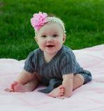 Una bella neonata di 5 mesi Fotografie Stock Libere da Diritti