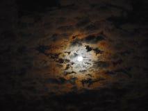Una bella notte della luna piena Immagine Stock Libera da Diritti