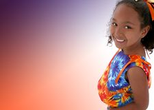 Una bella ragazza di sei anni Fotografia Stock Libera da Diritti