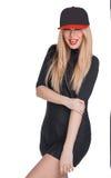 Una bella ragazza in un cappuccio Fotografie Stock