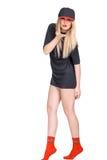 Una bella ragazza in un cappuccio Immagine Stock Libera da Diritti