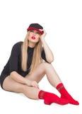 Una bella ragazza in un cappuccio Fotografia Stock