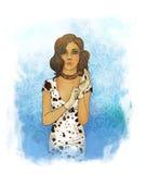 Una bella ragazza vestita come cane Illustrazione di Stock
