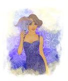 Una bella ragazza vestita come capra Royalty Illustrazione gratis