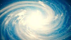 Una bella scena dello spazio con una galassia girante archivi video