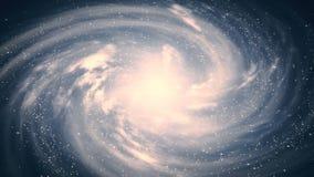 Una bella scena dello spazio con una galassia girante video d archivio