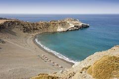 Una bella spiaggia nell'isola di Creta Fotografia Stock