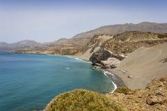 Una bella spiaggia nell'isola di Creta Fotografie Stock Libere da Diritti