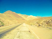 Una bella valle delle montagne dal Mendoza Argentina della ruta 40 Immagine Stock