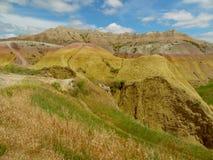 Una bella vista del parco nazionale dei calanchi immagine stock