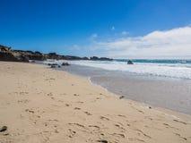 Una bella vista della linea costiera di California lungo la strada principale 1, Big Sur Fotografia Stock Libera da Diritti