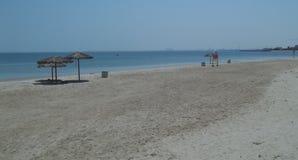 Una bella vista della spiaggia sulla costa Est dell'Arabia Saudita Immagine Stock
