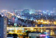 Una bella vista nella citt? di Ho Chi Minh immagine stock