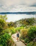 Una bella vista sul mare Fotografie Stock