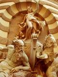 Una belleza, fuente de Michaelerplatz - Viena Foto de archivo libre de regalías
