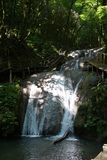 Una bellezza di 33 cascate in Soci fotografie stock libere da diritti