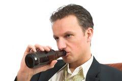 Una bevanda troppi fotografia stock