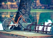 Una bicicleta en el parque Fotografía de archivo