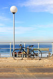Una bicicleta en la playa de Bondi, Sydney Fotos de archivo libres de regalías