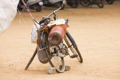 Una bicicletta di un venditore del pallone Immagine Stock
