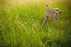 Una bicicletta rossa Immagini Stock Libere da Diritti