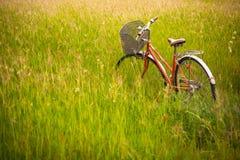 Una bicicletta rossa Fotografia Stock Libera da Diritti