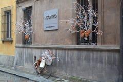 Una bicicletta sulla via Immagine Stock