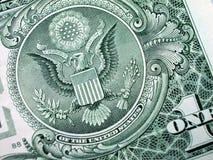 Una Bill-Gran Sello-Águila del dólar Imágenes de archivo libres de regalías