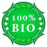 una bio- etichetta di 100 per cento Fotografia Stock Libera da Diritti
