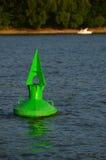 Una boa di verde segna il fiume fotografia stock