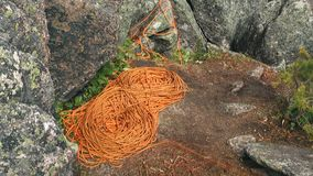 Una bobina de la cuerda que sube almacen de video