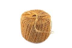 Una bobina della corda approssimativa della paglia Fotografie Stock