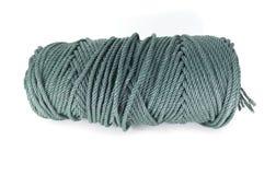 Una bobina della corda verde isolata Fotografia Stock Libera da Diritti