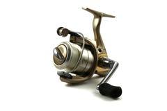Una bobina dorata di Spincasting pronta a andare pescare Immagini Stock Libere da Diritti