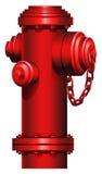 Una boca de riego roja Foto de archivo libre de regalías
