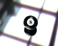 Una bola de billar de la piscina stock de ilustración