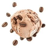 Una bola de hielo del café desde arriba foto de archivo libre de regalías