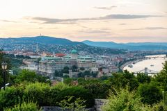 Una bonita vista de Budapest Hungría fotografía de archivo libre de regalías