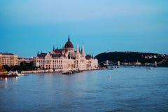 Una bonita vista de Budapest Hungría imagen de archivo