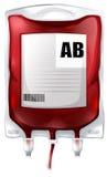 Una borsa del sangue con tipo sangue di ab illustrazione vettoriale